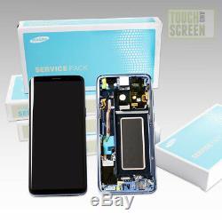 100% Samsung Galaxy Original S9 G960F Écran LCD Écran Noir Bleu + Outil