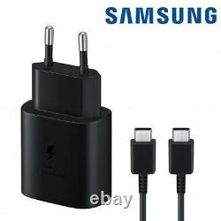 25W Chargeur Secteur Ultra Rapide + Cable Original Samsung SM-A715F Galaxy A71