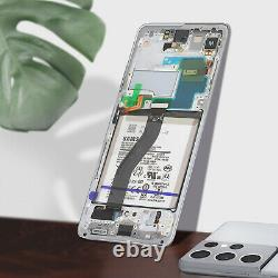 Bloc Complet Galaxy S21 Ultra Écran LCD Vitre Tactile Original Samsung argent