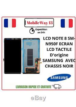 Bloc Ecran Lcd+vitre Tactile Original Samsung Galaxy Note 8 N950f Noir