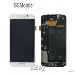 Display Ecran Ecran LCD Tactile Samsung Galaxy S6 Edge G925F Blanc Original