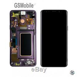 Display Ecran LCD Touch Ecran Cadre Samsung Galaxy S9 G960F Violet Original