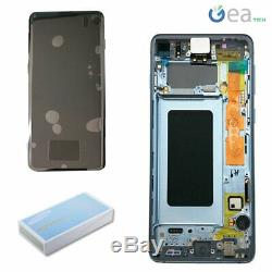 Display LCD Écran Tactile+Frame Original Samsung pour Galaxy S10 SM-G973 Bleu