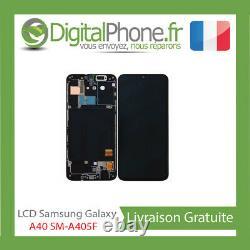 ECRAN LCD ORIGINAL Samsung Galaxy A40 SM-A405F Display GH82-19672A Black -TVA