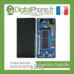 ECRAN LCD ORIGINAL Samsung Galaxy Note 8 Bleu GH97-21065B -TVA