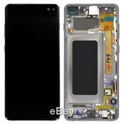 Ecran Amoled Oled Original Sur Chassis Samsung Galaxy S10 Plus Noir G975f