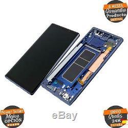 Ecran Complet Cadre Samsung Galaxy Note 9 SM-N960F Bleu Original Utilisé