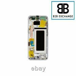Écran Complet + Châssis ARGENT Samsung Galaxy S8 G950F Original Pack Service