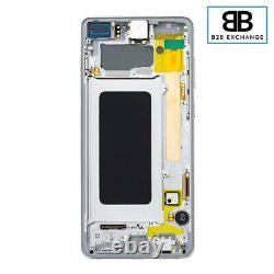 Écran Complet Châssis BLANC Samsung Galaxy S10 Plus G975F ORIGINAL Pack Service