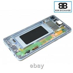 Écran Complet Châssis BLEU Samsung Galaxy S10 G973F ORIGINAL Pack Service