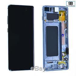 Écran Complet Châssis BLEU Samsung Galaxy S10 Plus G975F Original Pack Service