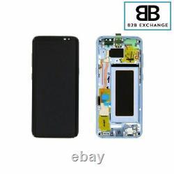 Écran Complet Châssis BLEU Samsung Galaxy S8 G950F Original Pack Service