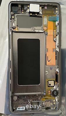 Écran Complet & Châssis NOIR Samsung Galaxy S10 G973F ORIGINAL Pack Service