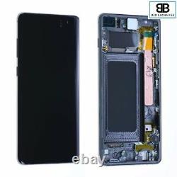 Écran Complet & Châssis NOIR Samsung Galaxy S10 Plus G975F Originale PackService