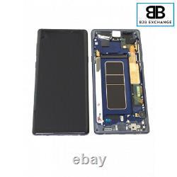 Écran Complet Châssis ORIGINAL BLEU Samsung Galaxy Note 9 N960F PACK SERVICE