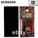 Écran Complet Châssis Rouge Samsung Galaxy Note 10 N970F ORIGINAL Service Pack