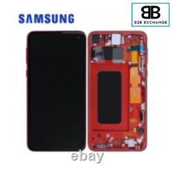 Écran Complet Châssis Rouge Samsung Galaxy S10E G970F Original Pack Service