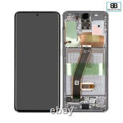 Écran Complet Châssis Samsung Galaxy S20 GRIS G980F/G981B Original PackService