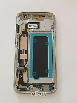 Ecran Complet LCD+Tactile + Cadre Samsung Galaxy S7 SM-G930V Doré Original