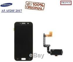 Ecran Complet Lcd Noir Samsung Galaxy A5 A520F 2017 ORIGINAL + NAPPE BOUTON NOIR