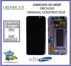 Ecran Complet Original Samsung galaxy S8 G950F Orchidée Violet