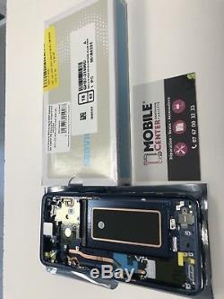 Ecran Complet Original Samsung galaxy S9 G960F Bleu Service Pack Garantie 12mois