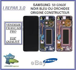 Ecran Complet Original Samsung galaxy S9 G960F Noir/Bleu/Orchidée/Violet/rose