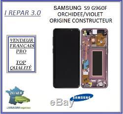 Ecran Complet Original Samsung galaxy S9 G960F Orchidée/Violet