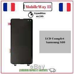 Ecran Complet Original Service Pack Pour Samsung Galaxy S10 Sm-g973 Silver