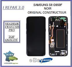 Ecran Complet sur chassis Original Samsung galaxy S8 G950F Noir