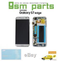 Ecran LCD ARGENT Original Samsung Galaxy S7 EDGE SM-G935F