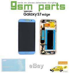 Ecran LCD BLEU CORAIL Original Samsung Galaxy S7 EDGE SM-G935F