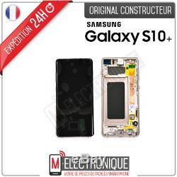 Ecran LCD Blanc Ceramique Original Samsung Galaxy S10+ Sm-g975f