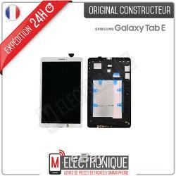 Ecran LCD Blanc Original Galaxy Tab E 9.6