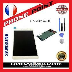 Ecran LCD Blanc Original Samsung Galaxy A7 SM-A700F + OUTILS