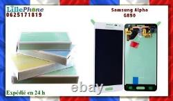 Ecran LCD Blanc Original Samsung Galaxy Alpha G850 100 % original