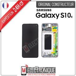 Ecran LCD Blanc Original Samsung Galaxy S10e G970