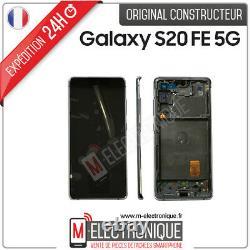 Ecran LCD Blanc Original Samsung Galaxy S20 Fe 5g Sm-g781b