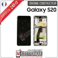 Ecran LCD Blanc Original Samsung Galaxy S20 Sm-g980f / Sm-g981f 4g /5g