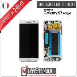 Ecran LCD Blanc Original Samsung Galaxy S7 Edge G935F