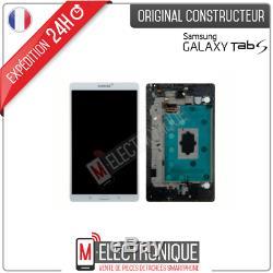 Ecran LCD Blanc Original Samsung Galaxy Tab S 8.4 Wifi Sm-t700