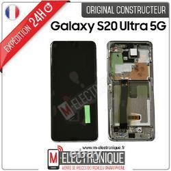 Ecran LCD Blanc Original Samung Galaxy S20 Ultra 5g Sm-g988b