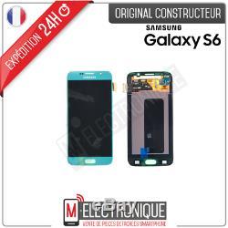 Ecran LCD Bleu Original Samsung Galaxy S6 G920