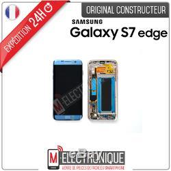 Ecran LCD Bleu Original Samsung Galaxy S7 Edge G935