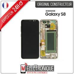 Ecran LCD Gold / Or Original Samsung Galaxy S8 G950F