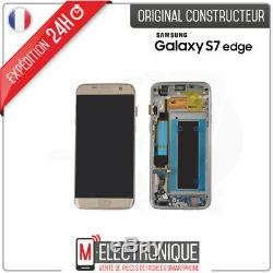 Ecran LCD Gold Original Samsung Galaxy S7 Edge G935F