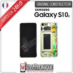Ecran LCD Jaune Original Samsung Galaxy S10e Sm-g973