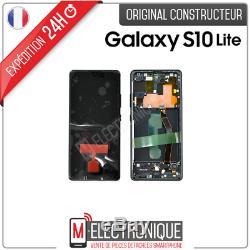 Ecran LCD Noir Original Samsung Galaxy S10 Lite Sm-g770