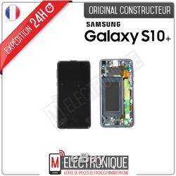 Ecran LCD Noir Original Samsung Galaxy S10+ Sm-g975