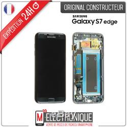 Ecran LCD Noir Original Samsung Galaxy S7 Edge G935F